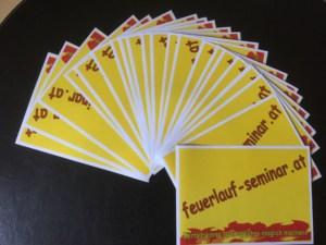 Feuerlauf Moderationskarten